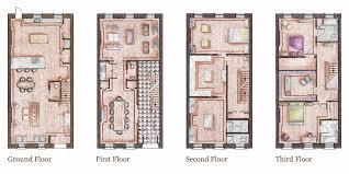 Amazing Brownstone House Plans   New York Brownstone Floor Plans        Marvelous Brownstone House Plans   New York Brownstone House Plan