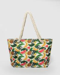 Multi Colour Fruit <b>Large Summer Beach Bag</b>