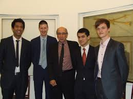 young economist of the year   royal economic societyyoung economist essay competition winners   robert chote  res public lecturer  and res president  richard blundell  right