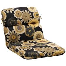 rounded black yellow floral outdoor chair cushion black patio chair cushions