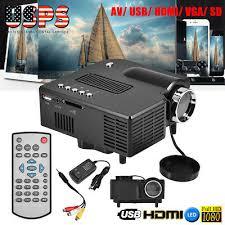 <b>Mini Pocket LED</b> Projector HD 1080P VGA USB HDM TV Video ...