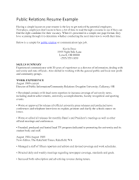 cover letter template for  sample resume public relations    resume design