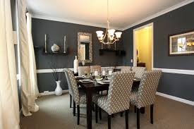 dining room wall decorating ideas: dining roomvintage blue dining room walls with black dining sets in laminate wooden floor