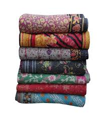 <b>5 Piece Lot</b> Vintage Kantha Quilt Mix <b>Color</b> Kantha Throw ...