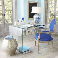 blue white home office chair lucite desk well blue white home office