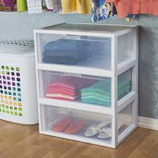 chic tall sterilite drawers with three cart and white frame for home furniture ideas chic small white home