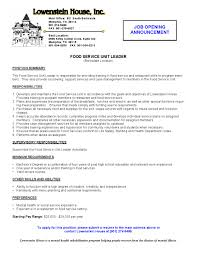 restaurant server resume restaurant server resume 1201