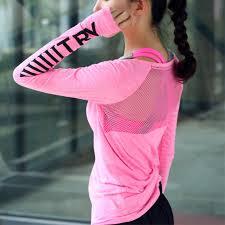 Fitness Breathable Sportswear <b>Women</b> T Shirt <b>Sport Suit Yoga</b> Top ...