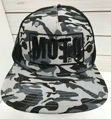 Moto The Movie <b>Camo Snapback</b> Trucker <b>Hat</b> Embroidered Big X ...