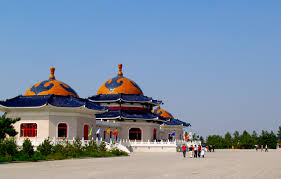 snake heathen chinese chinggis khan mausoleum ordos city inner built 1956