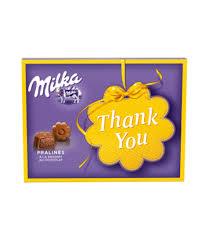 Купить Шоколадные <b>конфеты</b> c пралине <b>Milka Thank you</b>, 120г по ...