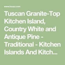 kitchen island granite top sun: tuscan granite top kitchen island country white and antique pine traditional kitchen