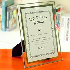 <b>Crystal Glass</b> Frame A4 <b>Photo Frame</b> Certificate Frame | Shopee ...