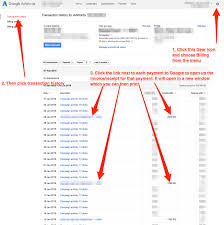 how to access your google adwords invoices click to enlarge