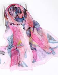 Women's Silk / <b>Chiffon</b> Rectangle <b>Scarf</b> Print 6352057 <b>2019</b> – $4.99