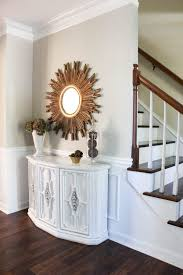 furniture incredible entry table and mirror collection using sunburst frame over foyer console cabinet from white apothecary furniture collection