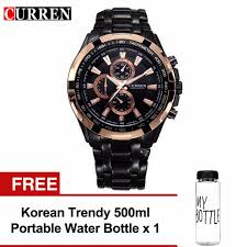 <b>Curren 8023 Men's</b> Stainless Steel Watch (Blue Black) FREE MyBottle