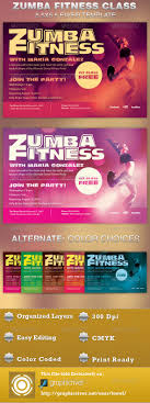 zumba fitness class flyer template on behance