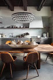 kitchen stunning lighting in the kitchen design shelves on wall wooden dining table chandelier white backsplash lighting