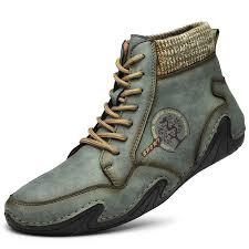 <b>SENBAO Men Boots Fall</b> Winter Mid-Top Trend Socks Shoes