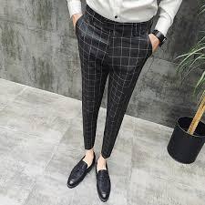 2019 <b>2019 New Plaid Suit</b> Pant Men Brand Designer Gentlemen ...