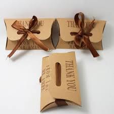 10/50/100 Wedding Favours Boxes Craft Paper Pillow <b>Sweet Cake</b> ...
