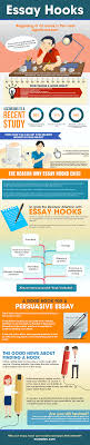 essay hooks infographic thesis statement hooks and critical essay traditionally an essay hook is the first one or two sentences its preliminary aspect which will serve to seize a reader s interest and let him choose