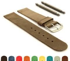 Suede Genuine Leather <b>Watch Strap</b> Band Malaga <b>12mm 14mm</b> ...