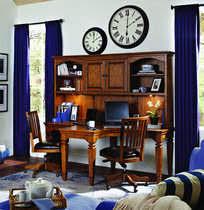 e2 harvest dual t desk and hutch aspen home aspenhome home office e2