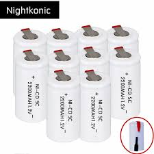 <b>Nightkonic 10 pieces</b> or 12 <b>pieces</b> SC battery 2200mAh ...