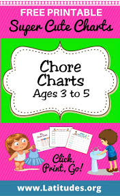 printable chore charts ages acn latitudes chore charts ages 3 to 5