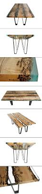 metal dining table base legs bennysbrackets: wood and resin boat inspired dining table