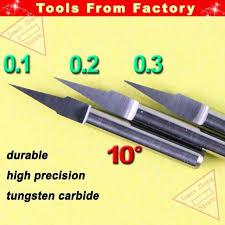 Online Shop <b>10pcs 3.175mm</b> Shk 10deg 0.1mm Flat Bottom CNC ...