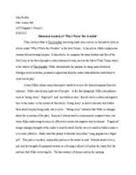 article analysis  when arthur millers the crucible was being made    page  zoom in