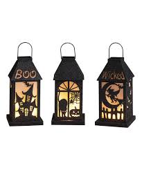 Look at this #zulilyfind! Large <b>Halloween LED Lantern</b> - Set of Three ...