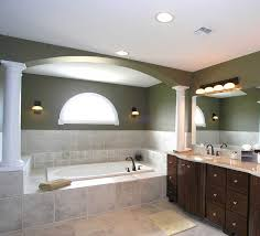 give star for inspiring bathroom lighting with white porcelain bathtub combine with white porcelain sink and large mirror photos above beautiful bathroom lighting