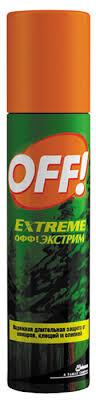 """<b>Спрей от комаров</b> и клещей <b>OFF</b>! """"Экстрим"""", 100 мл — купить в ..."""
