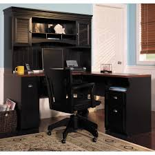 office desk at walmart bush cabot l shaped desk with hutch in black with drawer and bush office furniture amazon