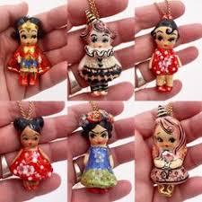 Ceramic <b>Pendant</b> , Ceramic <b>Pendant Necklace</b>, Ceramic Figurine ...