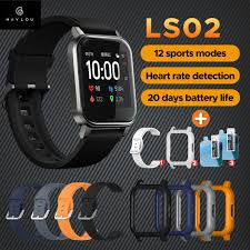 Xiaomi <b>Haylou LS02</b> Smart Watch Global Version - Black <b>1.4 inch</b> ...
