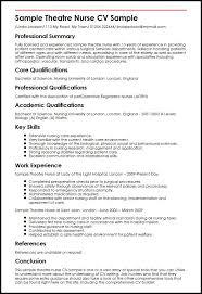 sample theatre nurse cv sample   curriculum vitae buildersample theatre nurse cv sample