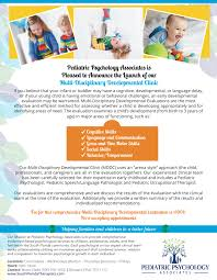 pediatric psychology associates news pediatric psychology associates multi disciplinary developmental clinic mddc evaluating children from birth to 3 years of age call today for an appointment