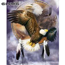 Parts & Accessories <b>5D DIY Full</b> Drill Diamond Painting Flying Eagle ...