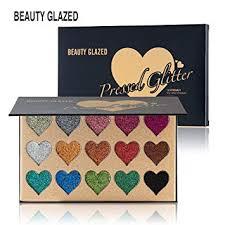 Beauty Glazed <b>15 Colors Glitter</b> Powder Palette Eyeshadow ...