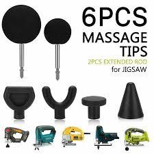 <b>Percussion Massage 6pcs</b> Tip & Bit For Jigsaw <b>Massager</b> Adapter ...