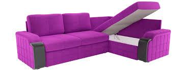 <b>Угловой диван Николь</b> (Вельвет фиолетовый) купить недорого в ...