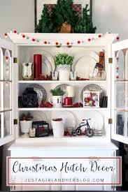 ideas china hutch decor pinterest: how to decorate a hutch for christmas christmas decorating ideas in red and white and