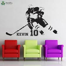<b>YOYOYU Wall Decal</b> Hockey <b>Personalised</b> Name <b>Wall Sticker</b> ...