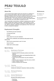 Maintenance Technician Resume Samples - VisualCV Resume Samples ... Maintenance Technician Resume Samples