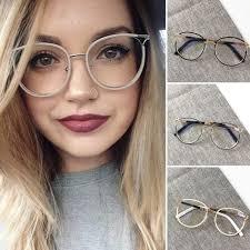 Sexy <b>Women</b> Round Style <b>Glasses</b> Fashion Metal <b>Eyeglasses</b> ...